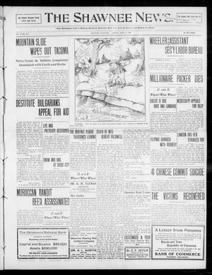 Primary view of object titled 'The Shawnee News. (Shawnee, Okla.), Vol. 13, No. 172, Ed. 1 Monday, April 27, 1908'.