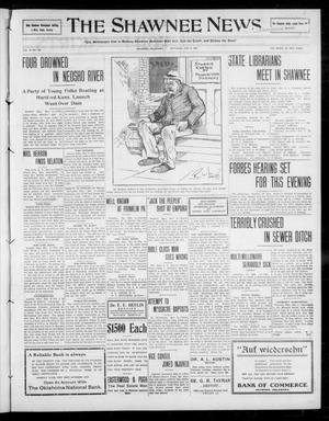 Primary view of object titled 'The Shawnee News. (Shawnee, Okla.), Vol. 13, No. 183, Ed. 1 Saturday, May 9, 1908'.