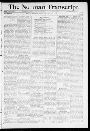 Primary view of object titled 'The Norman Transcript. (Norman, Okla.), Vol. 18, No. 26, Ed. 1 Thursday, May 14, 1908'.