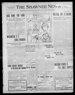 Primary view of object titled 'The Shawnee News. (Shawnee, Okla.), Vol. 13, No. 201, Ed. 1 Monday, June 1, 1908'.