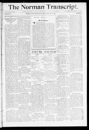 Primary view of object titled 'The Norman Transcript. (Norman, Okla.), Vol. 19, No. 29, Ed. 1 Thursday, June 4, 1908'.