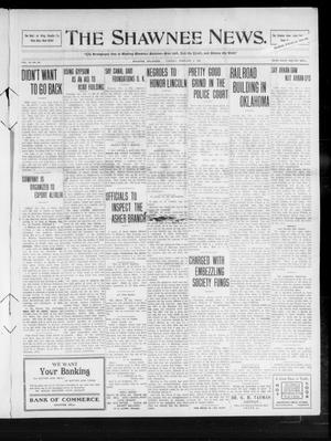 Primary view of object titled 'The Shawnee News. (Shawnee, Okla.), Vol. 14, No. 69, Ed. 1 Tuesday, February 2, 1909'.