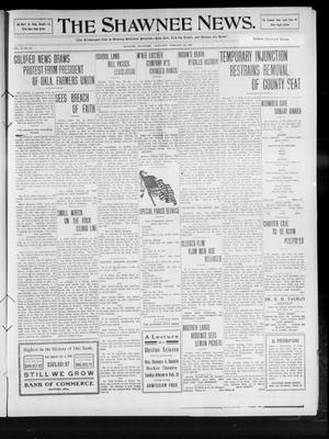 Primary view of object titled 'The Shawnee News. (Shawnee, Okla.), Vol. 14, No. 85, Ed. 1 Saturday, February 20, 1909'.
