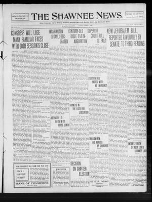 Primary view of object titled 'The Shawnee News. (Shawnee, Okla.), Vol. 14, No. 93, Ed. 1 Tuesday, March 2, 1909'.