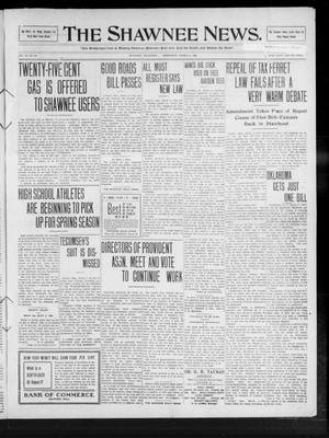 Primary view of object titled 'The Shawnee News. (Shawnee, Okla.), Vol. 14, No. 94, Ed. 1 Wednesday, March 3, 1909'.