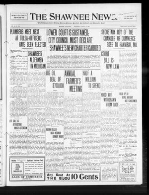 Primary view of object titled 'The Shawnee News. (Shawnee, Okla.), Vol. 14, No. 100, Ed. 1 Wednesday, March 10, 1909'.