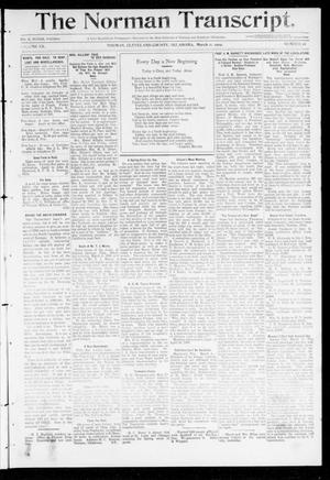 Primary view of object titled 'The Norman Transcript. (Norman, Okla.), Vol. 20, No. 16, Ed. 1 Thursday, March 11, 1909'.