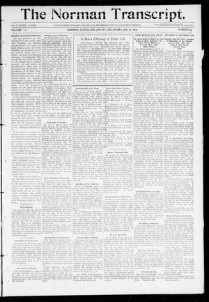 Primary view of object titled 'The Norman Transcript. (Norman, Okla.), Vol. 20, No. 34, Ed. 1 Thursday, July 15, 1909'.