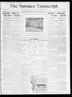 Primary view of object titled 'The Norman Transcript. (Norman, Okla.), Vol. 21, No. 2, Ed. 1 Thursday, December 2, 1909'.