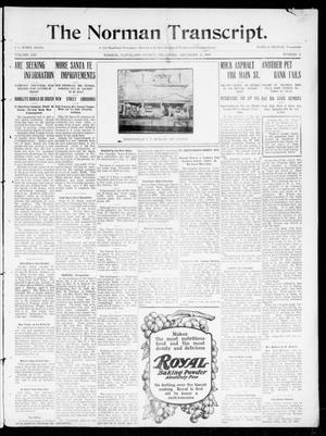 Primary view of object titled 'The Norman Transcript. (Norman, Okla.), Vol. 21, No. 3, Ed. 1 Thursday, December 16, 1909'.