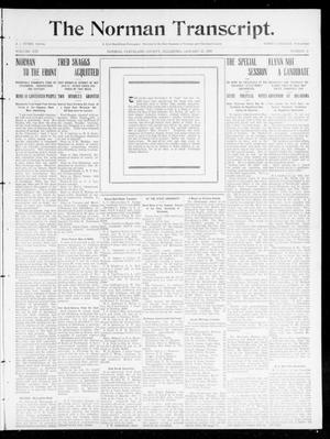 Primary view of object titled 'The Norman Transcript. (Norman, Okla.), Vol. 21, No. 9, Ed. 1 Thursday, January 27, 1910'.