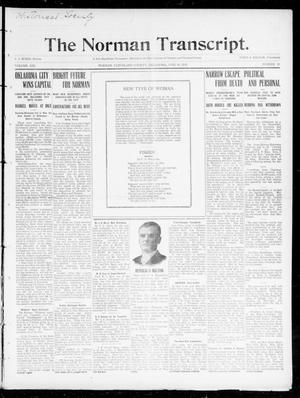 Primary view of object titled 'The Norman Transcript. (Norman, Okla.), Vol. 21, No. 29, Ed. 1 Thursday, June 16, 1910'.