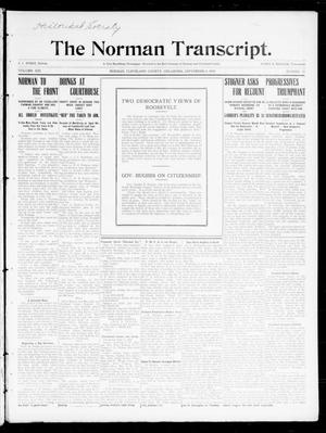 Primary view of object titled 'The Norman Transcript. (Norman, Okla.), Vol. 21, No. 41, Ed. 1 Thursday, September 8, 1910'.