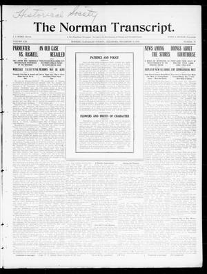Primary view of object titled 'The Norman Transcript. (Norman, Okla.), Vol. 21, No. 42, Ed. 1 Thursday, September 15, 1910'.