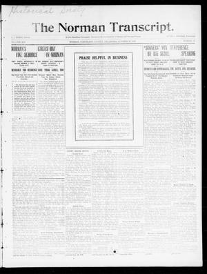 Primary view of The Norman Transcript. (Norman, Okla.), Vol. 21, No. 47, Ed. 1 Thursday, October 20, 1910