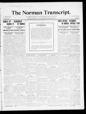 Primary view of object titled 'The Norman Transcript. (Norman, Okla.), Vol. 22, No. 2, Ed. 1 Thursday, December 8, 1910'.