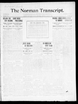 Primary view of object titled 'The Norman Transcript. (Norman, Okla.), Vol. 22, No. 14, Ed. 1 Thursday, March 2, 1911'.