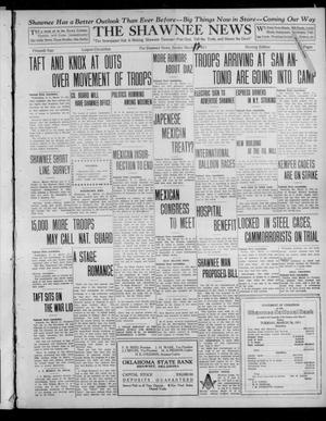 Primary view of object titled 'The Shawnee News (Shawnee, Okla.), Vol. 15, No. 56, Ed. 1 Sunday, March 12, 1911'.