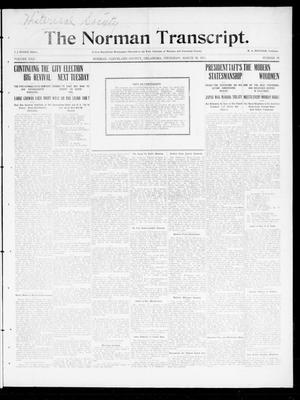 Primary view of object titled 'The Norman Transcript. (Norman, Okla.), Vol. 22, No. 18, Ed. 1 Thursday, March 30, 1911'.