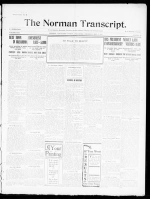 Primary view of object titled 'The Norman Transcript. (Norman, Okla.), Vol. 22, No. 23, Ed. 1 Thursday, May 4, 1911'.