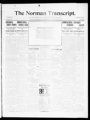 Primary view of object titled 'The Norman Transcript. (Norman, Okla.), Vol. 22, No. 29, Ed. 1 Thursday, June 15, 1911'.