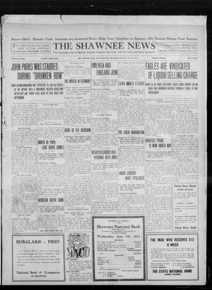 Primary view of object titled 'The Shawnee News (Shawnee, Okla.), Vol. 16, No. 102, Ed. 1 Monday, July 17, 1911'.
