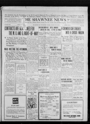 Primary view of object titled 'The Shawnee News (Shawnee, Okla.), Vol. 16, No. 105, Ed. 1 Saturday, July 22, 1911'.