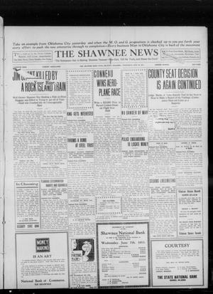Primary view of object titled 'The Shawnee News (Shawnee, Okla.), Vol. 16, No. 108, Ed. 1 Wednesday, July 26, 1911'.