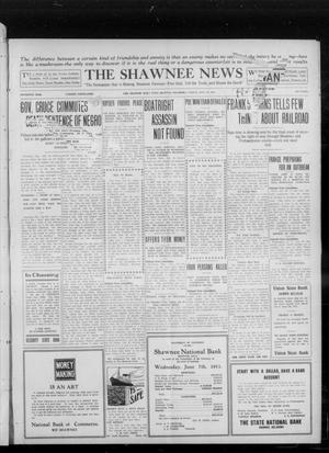 Primary view of object titled 'The Shawnee News (Shawnee, Okla.), Vol. 16, No. 109, Ed. 1 Friday, July 28, 1911'.