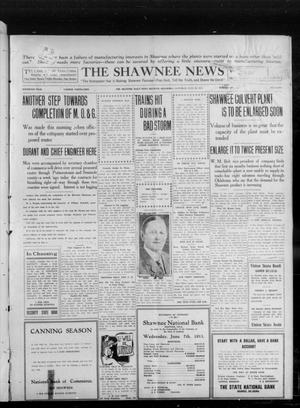 Primary view of object titled 'The Shawnee News (Shawnee, Okla.), Vol. 16, No. 110, Ed. 1 Saturday, July 29, 1911'.
