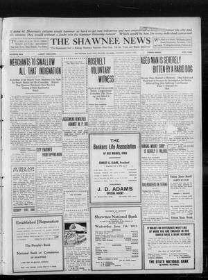 Primary view of object titled 'The Shawnee News (Shawnee, Okla.), Vol. 16, No. 115, Ed. 1 Saturday, August 5, 1911'.