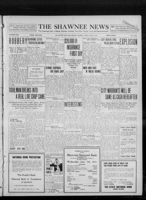 Primary view of object titled 'The Shawnee News (Shawnee, Okla.), Vol. 16, No. 120, Ed. 1 Friday, August 11, 1911'.