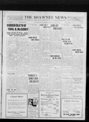 Primary view of object titled 'The Shawnee News (Shawnee, Okla.), Vol. 16, No. 134, Ed. 1 Monday, August 28, 1911'.