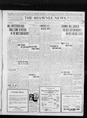 Primary view of object titled 'The Shawnee News (Shawnee, Okla.), Vol. 16, No. 135, Ed. 1 Tuesday, August 29, 1911'.