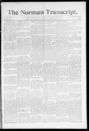 Primary view of object titled 'The Norman Transcript. (Norman, Okla.), Vol. 22, No. 42, Ed. 1 Thursday, September 14, 1911'.