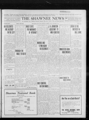 Primary view of object titled 'The Shawnee News (Shawnee, Okla.), Vol. 16, No. 156, Ed. 1 Tuesday, September 26, 1911'.