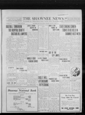 Primary view of object titled 'The Shawnee News (Shawnee, Okla.), Vol. 16, No. 163, Ed. 1 Wednesday, October 4, 1911'.