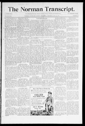 Primary view of object titled 'The Norman Transcript. (Norman, Okla.), Vol. 22, No. 46, Ed. 1 Thursday, October 12, 1911'.