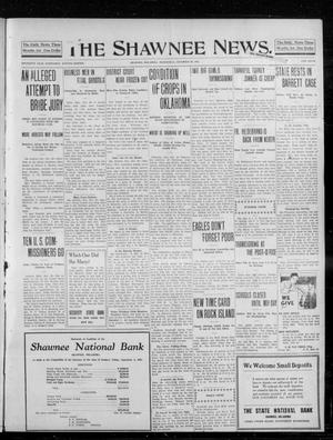 Primary view of object titled 'The Shawnee News. (Shawnee, Okla.), Vol. 16, No. 208, Ed. 1 Wednesday, November 29, 1911'.