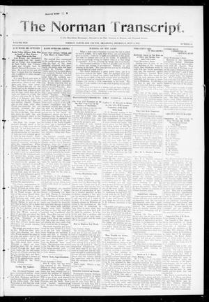 Primary view of object titled 'The Norman Transcript. (Norman, Okla.), Vol. 24, No. 44, Ed. 1 Thursday, July 3, 1913'.