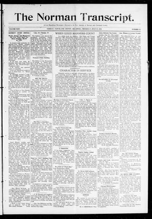Primary view of object titled 'The Norman Transcript. (Norman, Okla.), Vol. 24, No. 46, Ed. 1 Thursday, July 17, 1913'.