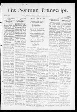 Primary view of object titled 'The Norman Transcript. (Norman, Okla.), Vol. 24, No. 48, Ed. 1 Thursday, July 31, 1913'.