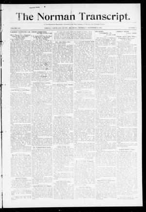 Primary view of object titled 'The Norman Transcript. (Norman, Okla.), Vol. 25, No. 3, Ed. 1 Thursday, September 18, 1913'.