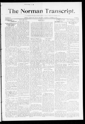 Primary view of object titled 'The Norman Transcript. (Norman, Okla.), Vol. 25, No. 8, Ed. 1 Thursday, October 23, 1913'.
