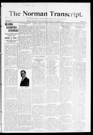 Primary view of object titled 'The Norman Transcript. (Norman, Okla.), Vol. 25, No. 10, Ed. 1 Thursday, November 6, 1913'.