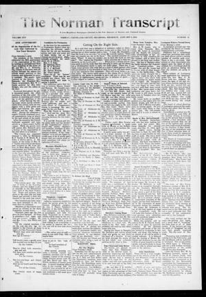 Primary view of object titled 'The Norman Transcript (Norman, Okla.), Vol. 25, No. 18, Ed. 1 Thursday, January 8, 1914'.