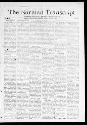 Primary view of object titled 'The Norman Transcript (Norman, Okla.), Vol. 25, No. 19, Ed. 1 Thursday, January 15, 1914'.