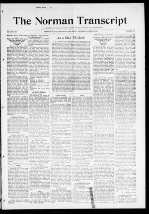 Primary view of object titled 'The Norman Transcript (Norman, Okla.), Vol. 25, No. 26, Ed. 1 Thursday, March 5, 1914'.