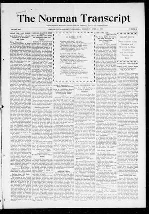 Primary view of object titled 'The Norman Transcript (Norman, Okla.), Vol. 25, No. 30, Ed. 1 Thursday, April 2, 1914'.