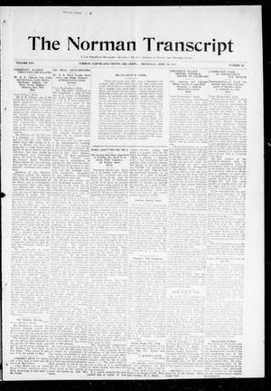 Primary view of object titled 'The Norman Transcript (Norman, Okla.), Vol. 25, No. 34, Ed. 1 Thursday, April 30, 1914'.